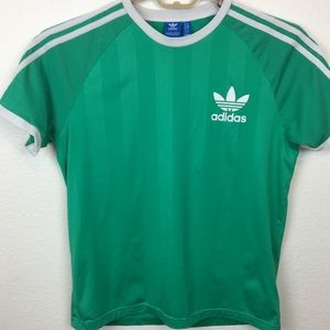Adidas Originals Trefoil Green and White SZ L Top